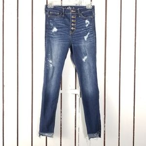 Hollister super skinny crops size 3 button fly